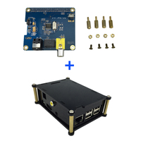 Raspberry Pi 3 Digital Audio Sound Card Expansion Board HIFI DiGi I2S SPDIF + Acrylic Case Box Support Raspberry Pi 2 Model B
