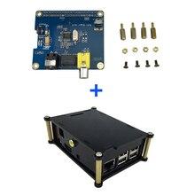 Raspberry Pi 3 Tarjeta de Expansión de Tarjeta de Sonido de Audio de ALTA FIDELIDAD Digital DiGi I2S SPDIF + caja de la Caja de Soporte de Acrílico Raspberry Pi 2 Modelo B