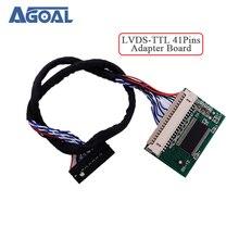 20ピンlvdsターン41ピンttlポート標準20pin 1ch 8bit lvds入力41pin ttl出力アダプタボードコンバータLM150X05 LM151X2