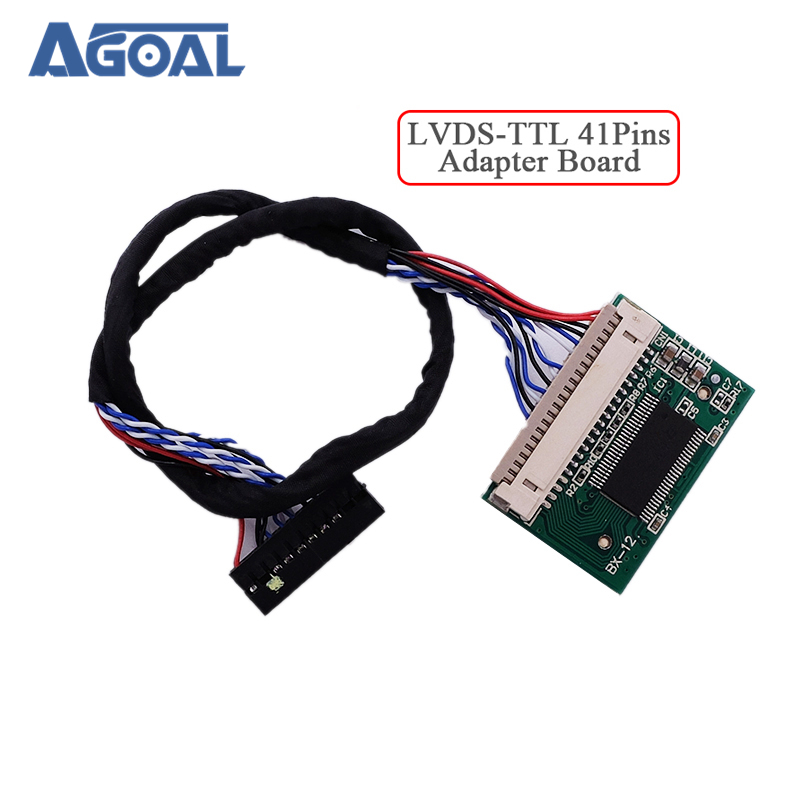 US $6 5 |20Pins LVDS turn 41Pins TTL port standard 20pin 1ch 8bit LVDS  input 41pin TTL output Adapter board Converter LM150X05 LM151X2-in  Replacement