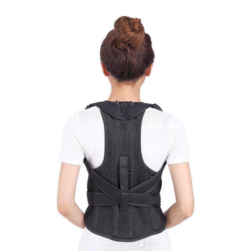 ФОТО Unisex Adult nano-carbon Humpback Correction Therapy Belt Shoulder Brace Correct of the Spine Fixation for Posture Back Support