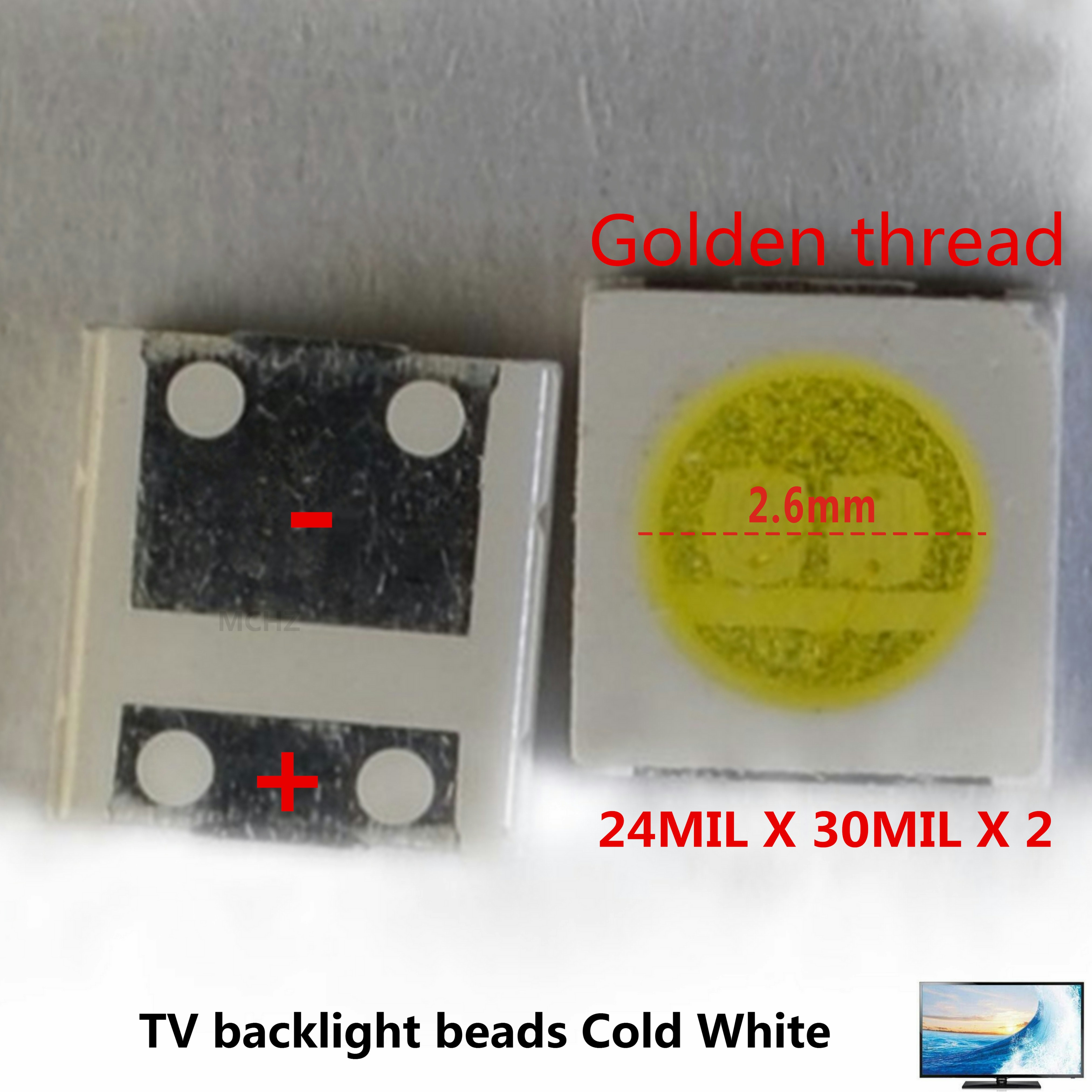 LED Backlight High Power LED 3W 3V CSP 1616 Cool white LCD Backlit TV Repair