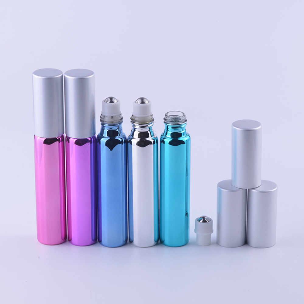 1 pc 10ml pequeno vazio rolo de vidro recarregável-na fragrância perfume óleo essencial garrafa durável deluxe para acessórios de viagem