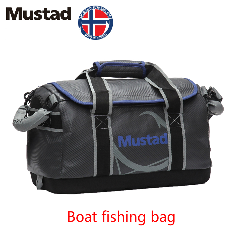 MUSTAD Multifunctional High Capacity Boat Fishing Bag Outdoor Fishing Bag PVC Waterproof Bag Fishing Tackle Lure Case Fish Pesca tourbon multifunction fishing bag lure bag waist pack pouch pole package fish tackle bag nylon black