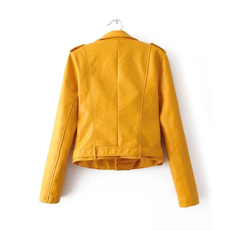 HTB1aNm7XioaPuJjSsplq6zg7XXaq Aelegantmis Autumn New Short Faux Soft Leather Jacket Women Fashion Zipper Motorcycle PU Leather Jacket Ladies Basic Street Coat
