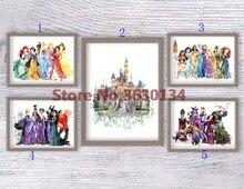 deimantų siuvinėjimo princesė, animacinių filmų, pilis, pilna deimantų dažymas, kryžius stitch rhinestone, 5d deimantų mozaika, namų apdaila, dovanos