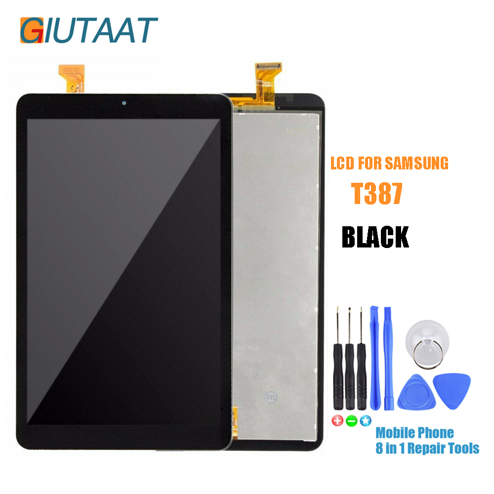 Black Replacement Parts Touch Screen Digitizer Panel LCD Display Assembly For Samsung Galaxy Tab A 8.0 2018 SM-T387 T387Black Replacement Parts Touch Screen Digitizer Panel LCD Display Assembly For Samsung Galaxy Tab A 8.0 2018 SM-T387 T387