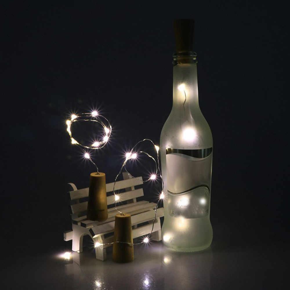 100% Бренд новый высокое качество 5 шт. 2 м солнечное вино с пробкой пробка для бутылок медная проволочная струнная лампа лампы с тематикой из сказок Прямая доставка