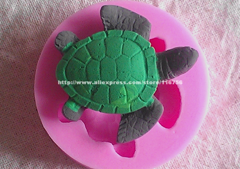 ᐂ¡ Nuevo! Envío Gratis tortuga en forma de silicona molde pastel ...