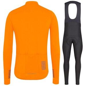 Image 1 - Completa ciclismo invernale pro equipe 2020 inverno velo térmico manga longa jérsei conjunto laranja mtb bicicleta maillot ciclismo