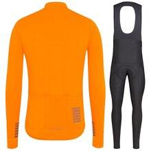 Completo ciclismo invernale Pro team 2020 panno morbido di inverno termico Maglia a maniche lunghe Arancione MTB della bicicletta della bici maglia ciclismo