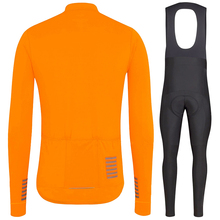 Completo ciclismo invernale Pro team 2020 winter thermal fleece long sleeve Jersey set Orange MTB bike bicycle maillot ciclismo