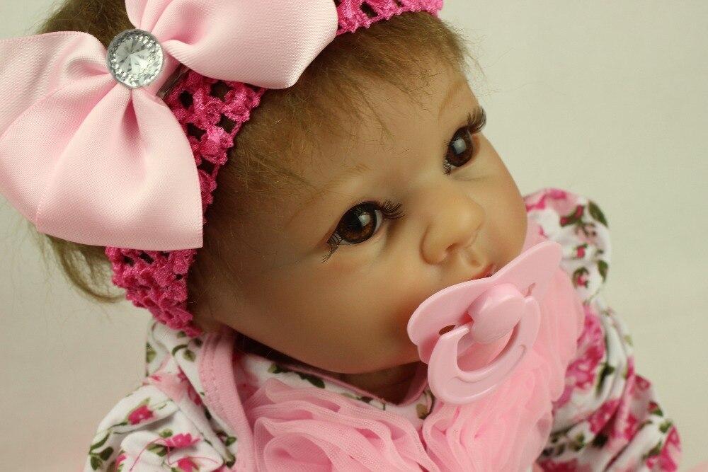 "Reborn Baby Dolls, Baby Growth Partners, Headband Pink Small Safflower to Accompany Sleep Little Princess 22"""