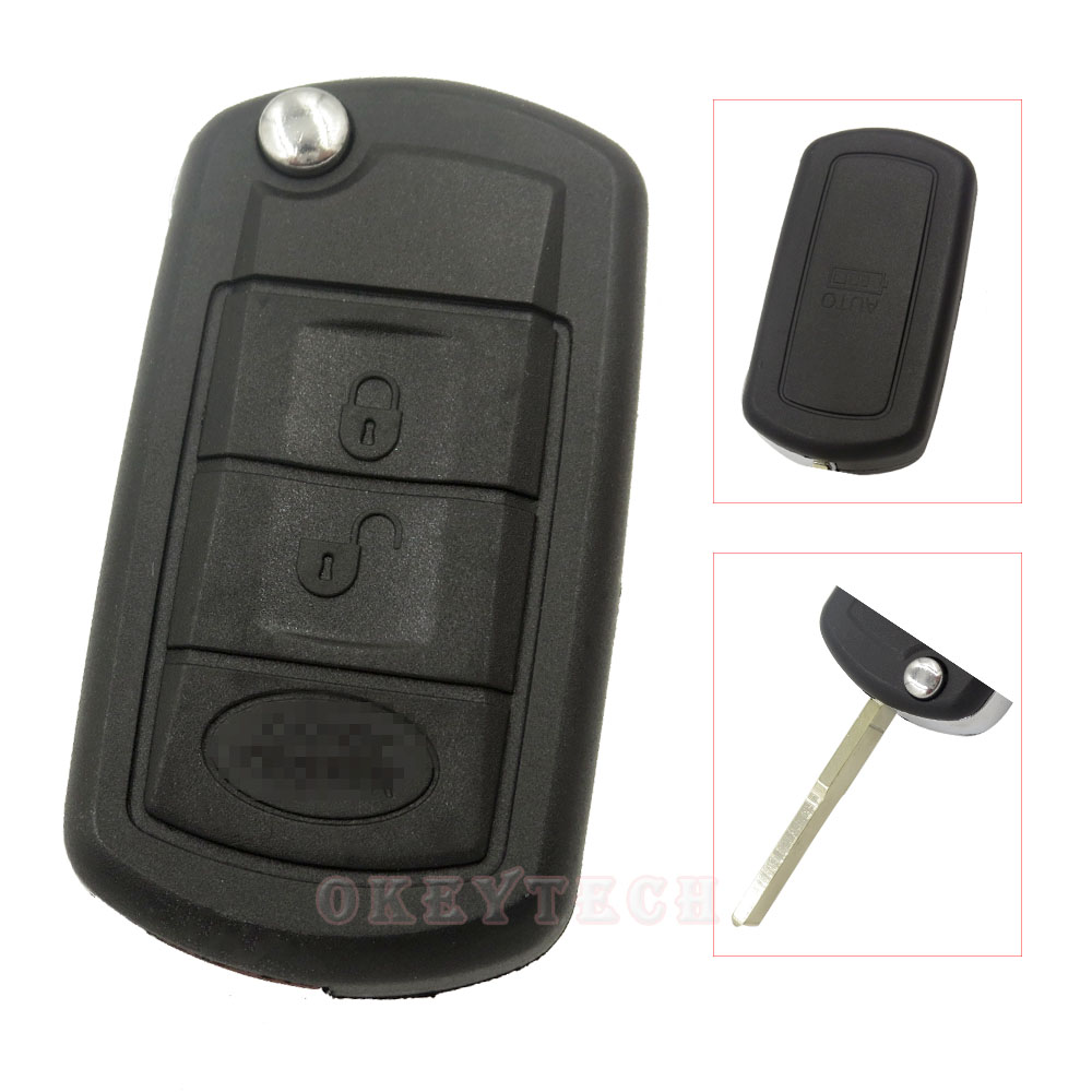 3 buttons remote flip key shell fit for land rover range rover sport discovery case fob