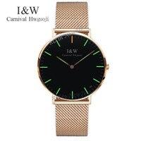 Carnival Luxury Brand Tritium Luminous Quartz Watches Men Fashion casual military women watch leather strap clock girl saati uhr