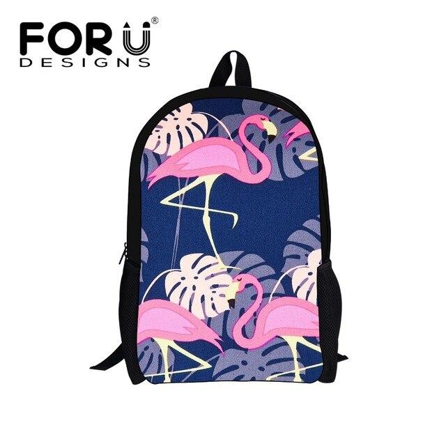 FORUDESIGNS Flamingo Printed School Bags Girls Backpack For Students Schoolbag Child Backpacks Baby Book Bag Kids