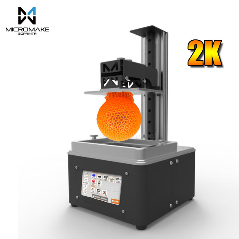 Micromake Nouveau L3 UV-LED Lumière-Durcissement DLP 3d imprimante wifi Auto-Trancheuse rapide 405nm UV résine 115 * 65*200mm sla dlp Impresora cadeau