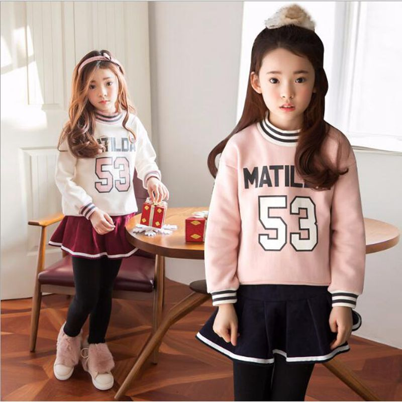 Girls' Autumn Suit 2018 New Style Girls' Fashionable Baseball Uniform Spring Clothing Spring And Autumn Wear Two Pieces/Set