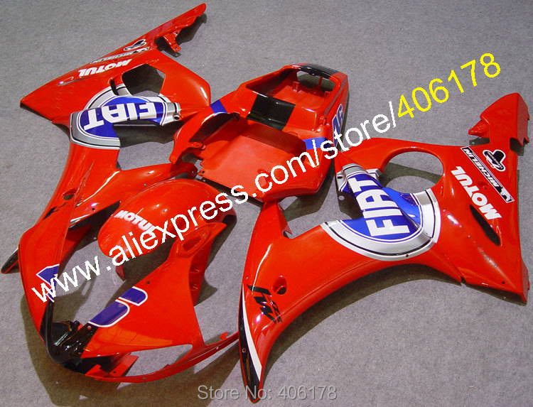 Hot Sales,custom body work fairings for YAMAHA 2005 YZF-R6 05 YZFR6 YZF R6 YZF600 FIAT ABS Fairing (Injection molding)