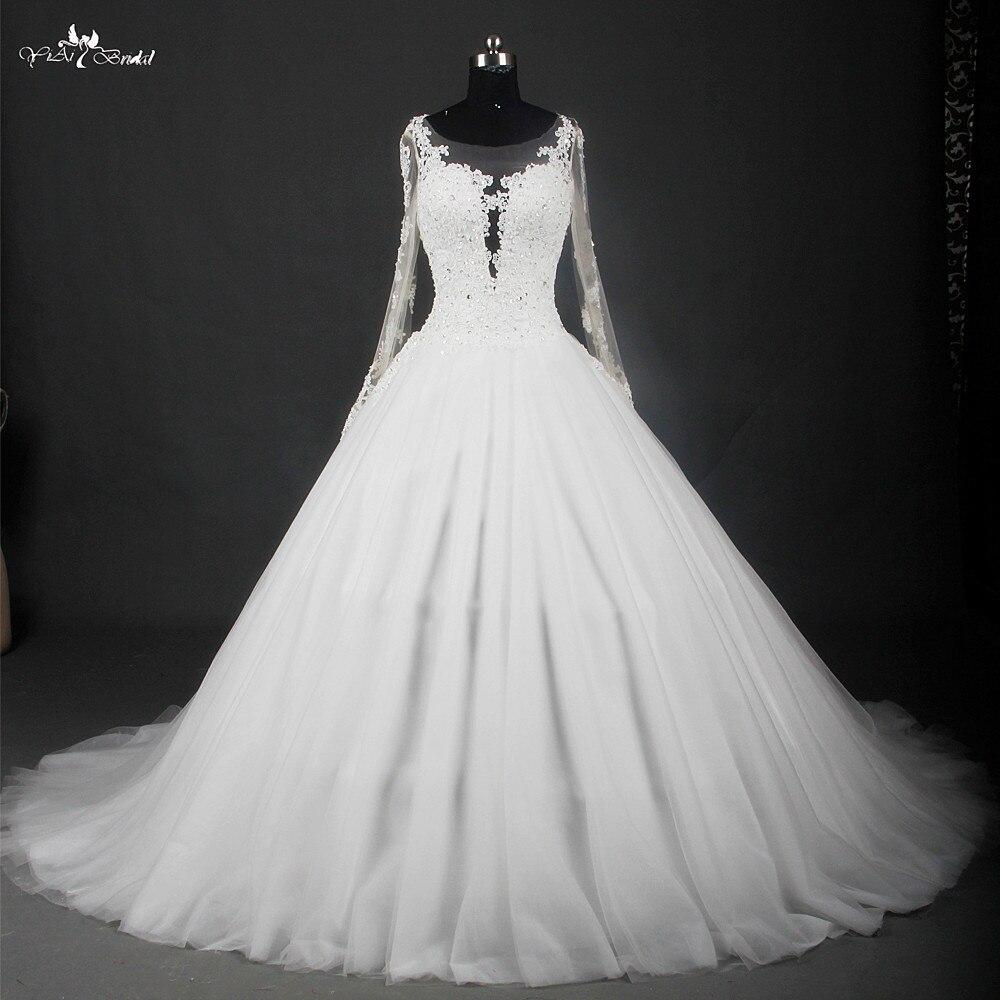 Full Sleeve Wedding Gown: Aliexpress.com : Buy Vestido De Noiva Sexy Sheer Full
