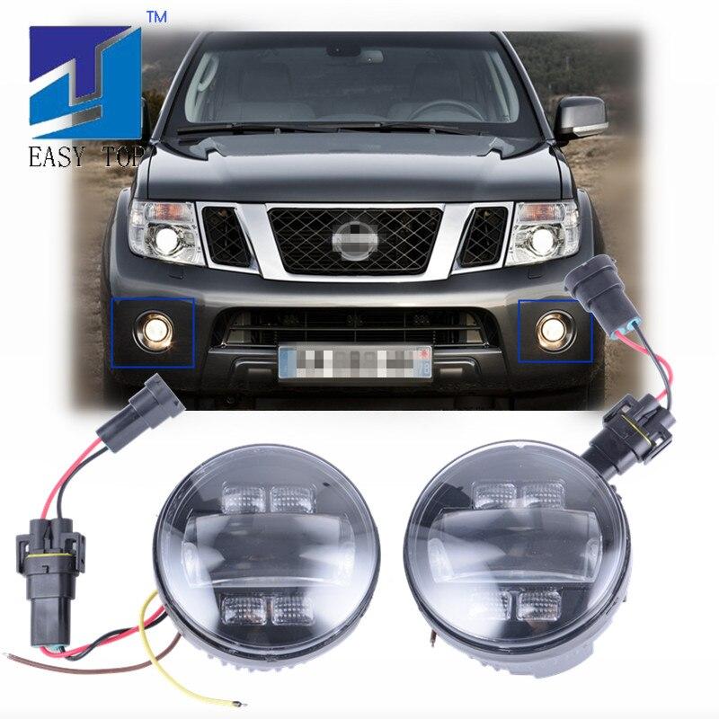 2 pièces voiture antibrouillard LED très brillante antibrouillard pour NISSAN PATHFINDER, X-TRAIL, SYLPHY