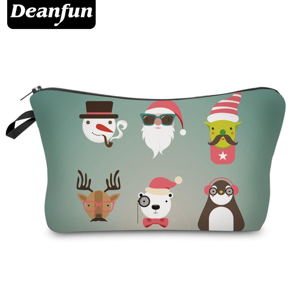 Deanfun Cosmetic Bags 3D Printing Winter Christmas Gift for Women Makeup Organizer Dropshipping 50547
