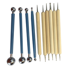 10pcs Ceramics Doll Ball Styluses Dotting Tools Pen Set DIY Portable Hand Tools Pottery Clay Gift Rubber Multifunction Sculpting