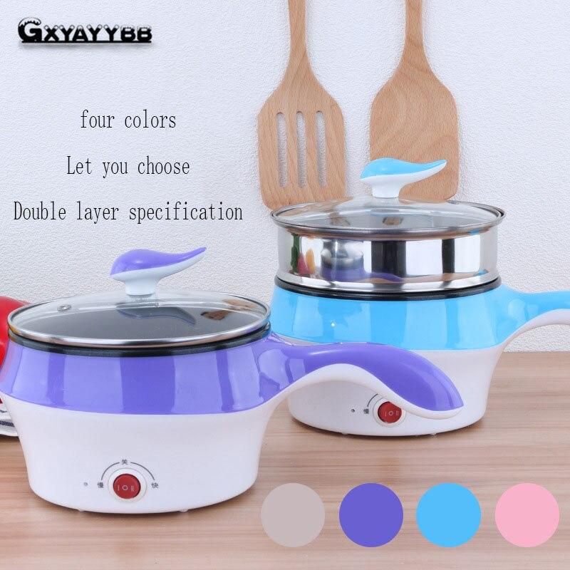 Korean Multi-function 18 Cm Non-stick Electric Wok Mini Electric Skillet Cookware Frying Pan Kitchen Pot Cooking Pot Cooking Wok