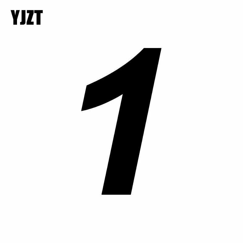 YJZT 8.2CM*15CM Interesting Race Number 1 Decoration Vinyl Car-styling Car Sticker Decal C11-0864
