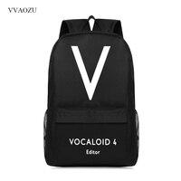 Cartoon Vocaloid 4 Preppy Men/Women Backpack Hatsune Miku Boy Girl Shoulder Schoolbag Campus Oxford Travel Bags