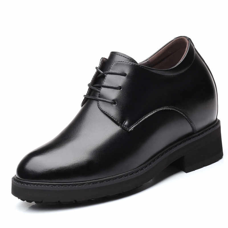 a824e4615a728c New Extra High 4.7 Inches Get Taller for Men Elevator Shoes Split Leather  Height Increased Business