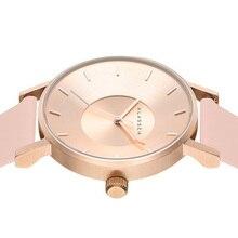 2016 Nueva Moda Casual Mujeres de Cuero Relojes de Marca de Lujo KLASSE14 Reloj de Cuarzo Deporte Hombres de acero Reloj 42mm Busines