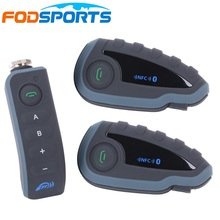 2 V8 Intercom Host+1 Remote Controller,motorcycle bluetooth multi intercom headset with NFC FM support 5 riders talk same time