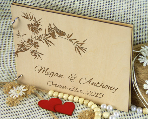 personalized wedding anniversary guest book bridal shower gift for couple memory book custom wedding keepsake book