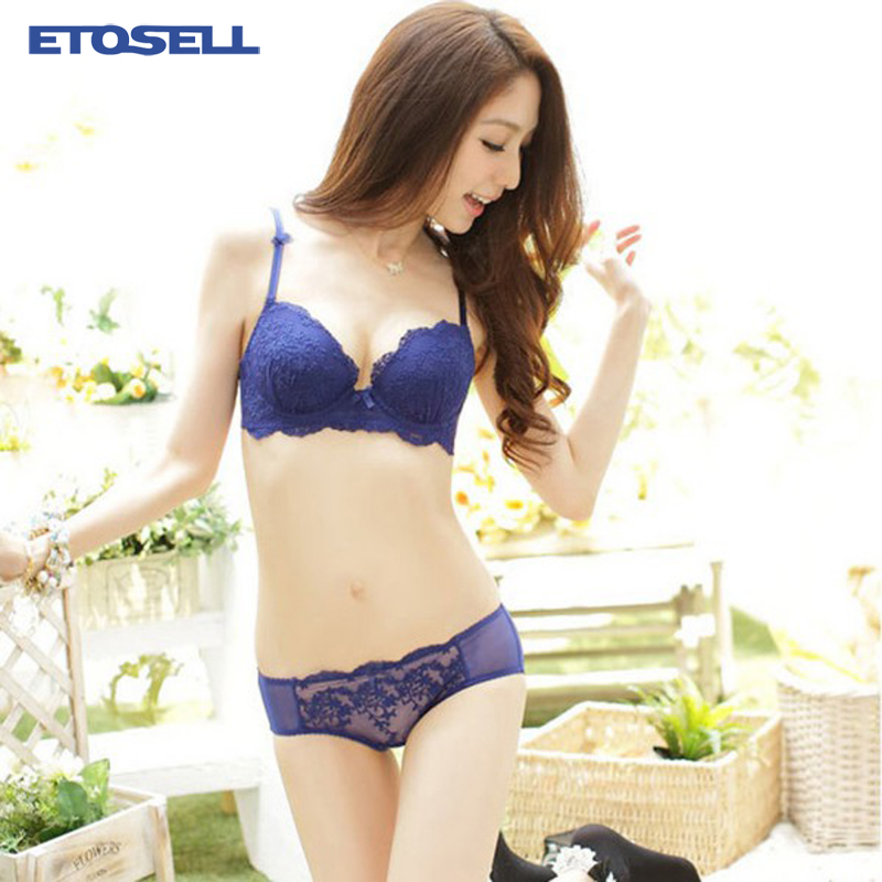 Womens Lace   Bra     Set   Push Up   Bra   Three-breasted   Bra   Underwear Outfits Cup ABC