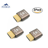 FUERAN HDMI 3 Pcs Dummy Plug DDC EDID Headless Ghost Display Emulator Fit Headless 1920x1080 New