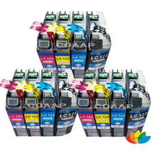 12 printer ink cartridges Compatible for Brother LC-121 LC-123 LC-125 LC-127 XL with Chip