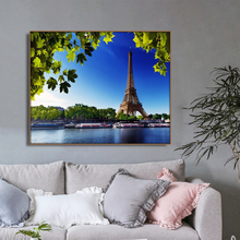 France Paris Places of Interest Wall Art Poster Print Canvas Painting Calligraphy Decorative Picture for Living Room Home Decor