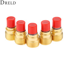DRELD 5pcs TIG Collets Body Gas Lens 45V42 1.0mm 0.04 for Welding Torch Consumables SR PTA DB WP 9/20/24/25 Series 2PK