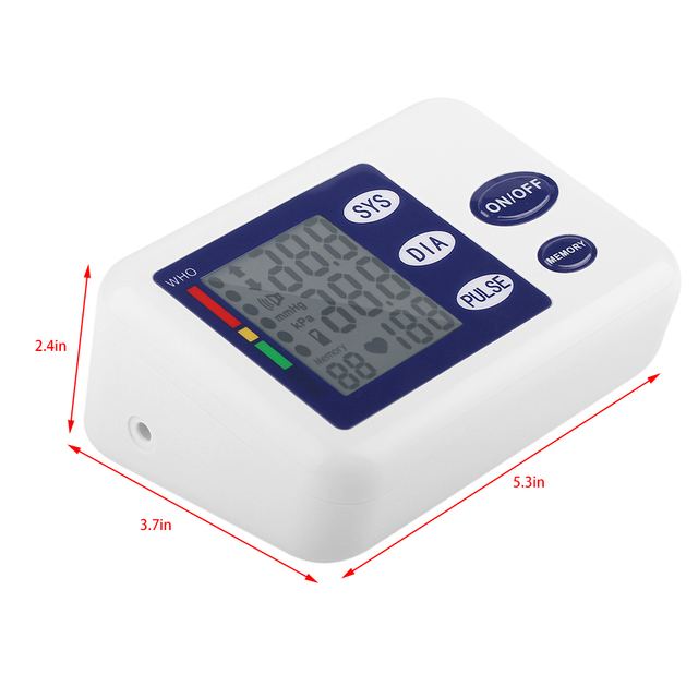 Digital Upper Arm Blood Pressure Monitor Device With Adaptor Health Care Automatic Sphygmomanometer Meter Tonometer oximeter 5