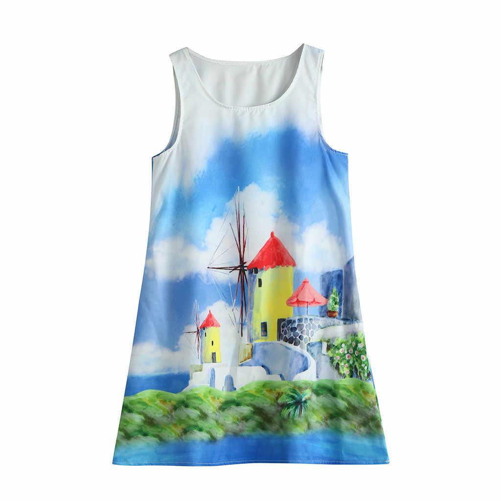 Одежда для подростков; одежда для детей девочек без рукавов 3D, принт с героями мультфильмов; платья с героями мультфильмов; Повседневная одежда Повседневное платья для девочек в возрасте 6, 8, 9, 10, 11, 12, 16 лет