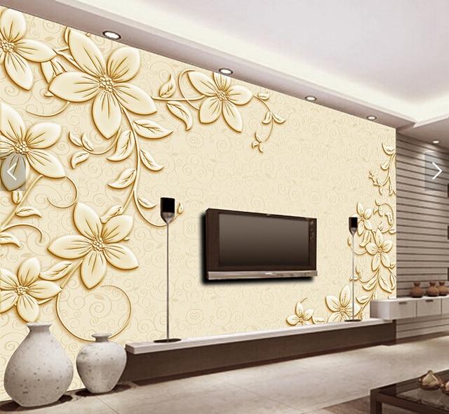 Compre personalizado 3d papel de parede for Sala de estar com papel de parede 3d