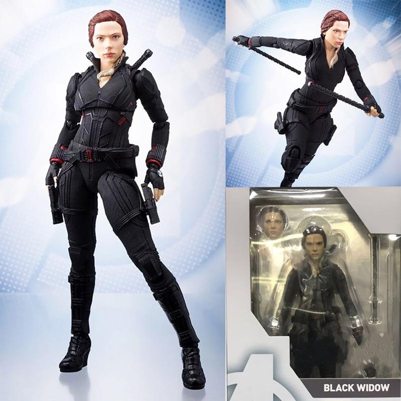 SHF Avengers 4 Endgame Marvel Black Widow Action Figure Model Toys Doll Christmas Gift
