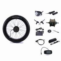 Задний привод 48 в 500 Вт контроллер колеса двигателя сноубайк 48 В 13AH литиевая батарея электрическое преобразование велосипедов Комплект 26 4,0