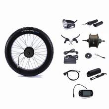Задний привод 48 в 500 Вт контроллер колеса двигателя сноубайк 48 В 13AH литиевая батарея электрическое преобразование велосипедов Комплект 26 «4,0