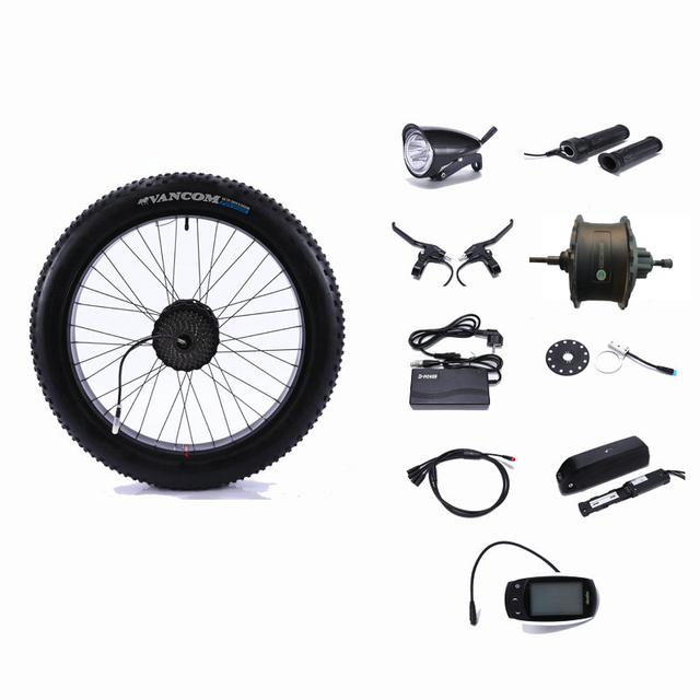 2c129a83770 Rear Drive 48V 500W motor wheel controller Fat snow Bike 48V 13AH lithium  battery Electric Bicycle Conversion Kit 26