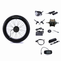 Rear Drive 48V 500W motor wheel controller Fat snow Bike 48V 13AH lithium battery Electric Bicycle Conversion Kit 26 4.0