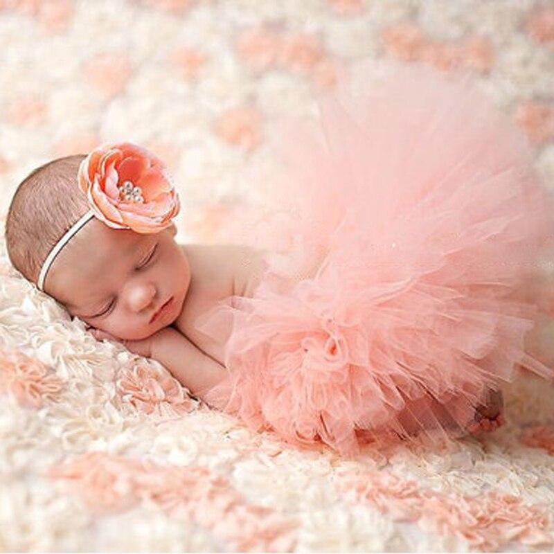 Newborn Photography Props Infant Costume Outfit Princess Baby Tutu Skirt Headband Baby Photography Props Baby Skirt MU986711