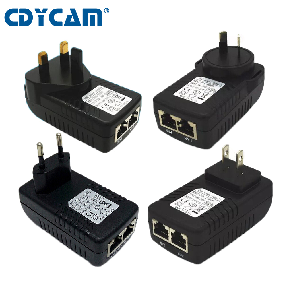 Cdycam Surveillance Cctv Security 48v 05a 24w Poe Wall Plug Ethernet Jack Wiring Injector Adapter Ip Camera Phone Power Supply In Accessories From