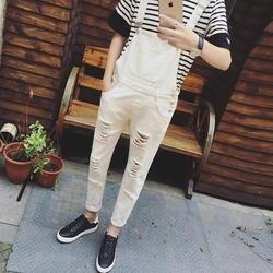 2019 Новый Рваные джинсы комбинезоны Марка New FASHION Hi Street рваные джинсовые Комбинезон для мужские брюки для девочек